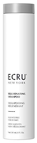 Ecru New York Rejuvenating Shampoo. Sulfate Free, Paraben Free and Color Safe. Vitamin infused moisturizing cleanser for normal hair, dry hair, damaged hair and processed hair. 8 fl. oz.