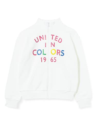 United Colors of Benetton (Z6ERJ Giacca M/L 3J68C5933 Maglione Cardigan, Bianco 101, 2XL Bambina