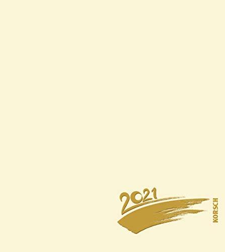 Foto-Malen-Basteln Bastelkalender chamois 2021: Fotokalender zum Selbstgestalten. Do-it-yourself Kalender mit festem Fotokarton. Edle Folienprägung. Format: 21,5 x 24 cm
