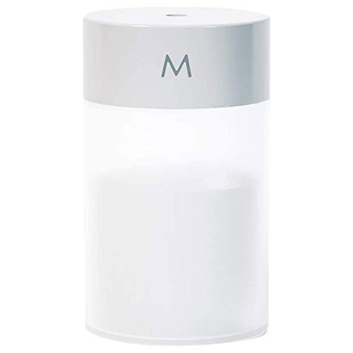 260ML空気加湿器、超音波20dB超音波加湿器寝室用オフィスヨガ、リビングルーム、車内に適したナイトライト機能付き加湿器 ( 白)