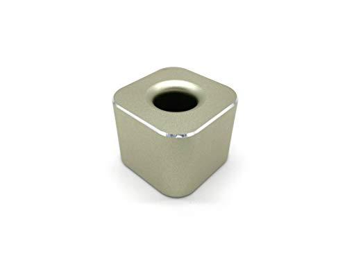 VENVEN ペンスタンド 屈強なアルミ合金製の一本用 ペン立て オフィスデスク 店舗 受付 メモに便利な事務用品 (ゴールド)