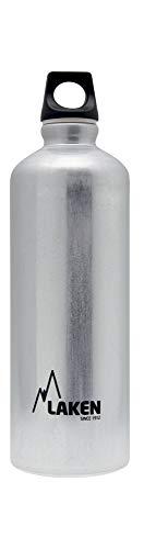 Laken Futura Alu Trinkflasche Schmale Öffnung Schraubdeckel mit Schlaufe 0.75L, Silber