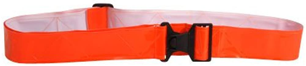 Vinyl Reflective Belt w//Buckle Closure-Neon Orange Sayre Enterprises Inc.