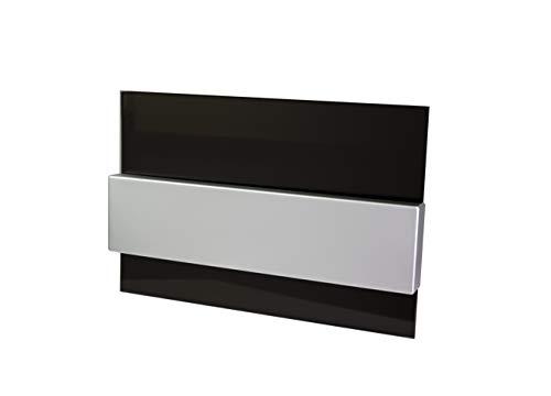Moderne Delux Unterputz Kleinverteiler 8 12 und 24 Module Sicherungskasten Verteilerkasten für Wand Einbau 1-reihig und 2-reihig IP4x (8 Module schwarz Glas)