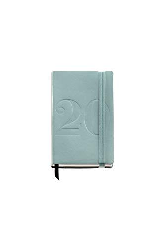 Miquelrius 31184 - Agenda 2020, Semana Vista Horizontal (90 x 140 mm), de bolsillo, Minimal Verde, Castellano