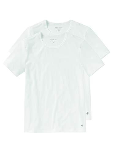 Marc O'Polo Herren Shirt Unterhemd Crew-Neck Rundhals Doppelpack - 149803, Farbe:Weiss, Größe Herren:XXL