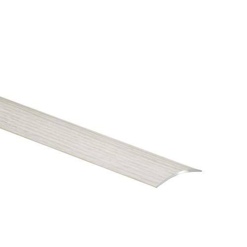 Aluminium-Türschwelle, Übergangsprofil, Schutzleiste, Übergangsschiene mit Laminat | 40 x 900 mm | Eiche Weiß – CEZAR