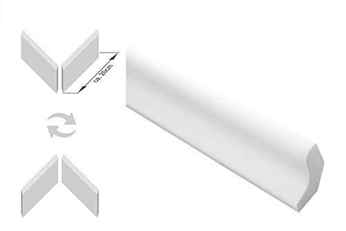 Zierleisten Sparpaket E-3-NK | inkl. vorgefertigte Ecken | leicht und stabil | extrudiertes Styropor | Stuckprofile | modern weiß | dekorativ | XPS | 22 x 25 mm | 20 Meter + 4 Ecken