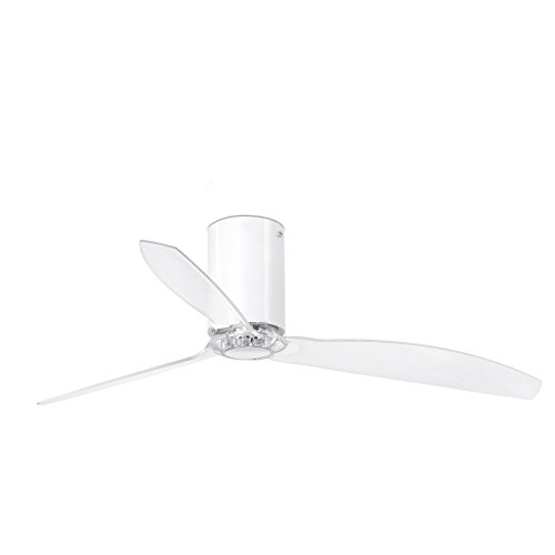 Faro Barcelona 32038 - MINI TUBE FAN Ventilador de techo blanco, transparente con motor DC
