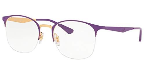 Ray-Ban Damen 0RX6422 Brillengestelle, Braun (Top Matte Violet On Shiny Gold), 49.0