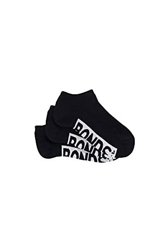 Bonds Kids Logo Low Cut Socks (3 Pack), Black, 9-12 (5-7 Years)