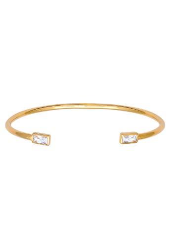 Elli Armband Damen Armreif Offen Geo mit Zirkonia Kristallen aus 925 Sterling Silber