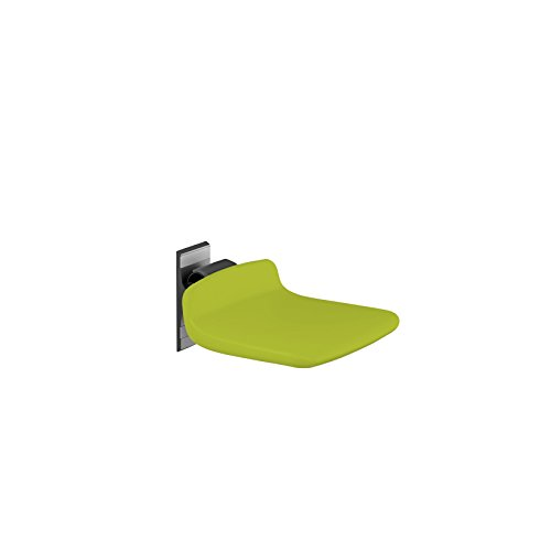 Pressalit R7310277 Dusch-Klappsitz 310 limonengrau, hoch-klappbarer gepolsterter Duschsitz für Senioren, behindertengerecht, Wandmontage (Belastbarkeit 150 kg, fest-montiert)