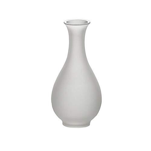 MSF glazen vaas, lange smalle hals ronde vaas decoratie ambachtelijke gift