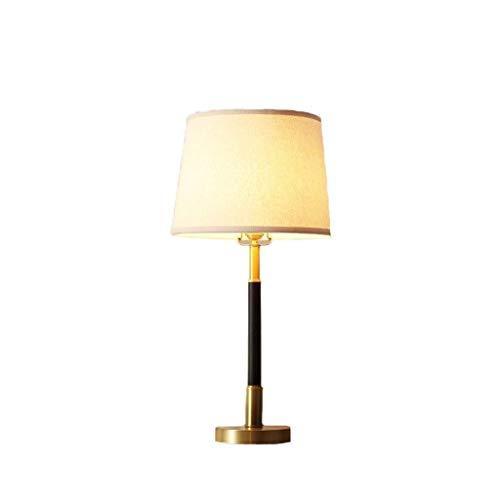 xilinshop Lámpara de Mesa American Country Jardín Dormitorio de la lámpara de Noche Caliente de la lámpara de la lámpara pequeña Tabla Simple Creativo de Cobre Lámpara de Mesa Lámparas de Escritorio