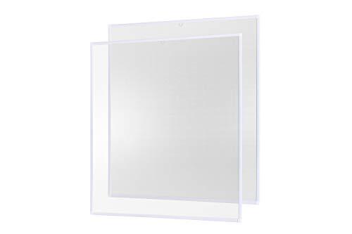 empasa Insektenschutz Fliegengitter Fenster Alurahmen Basic - weiß braun anthrazit - 100 x 120 cm - 2er SET