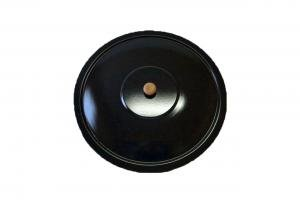 Ungarischer Deckel für Gulaschkessel Emaille Topfdeckel Emailledeckel 30 Liter 48 cm