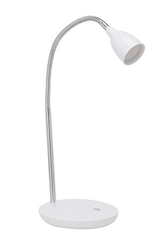 Brilliant G92935/05 Lampe à Poser Métal/Plastique Chrome/Blanc 1 x 3 W 16 x 28 x 40 cm