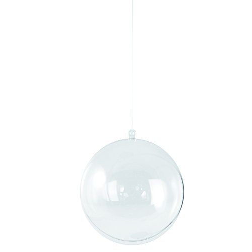 Rayher 3906637 Plastik-Kugel, 2tlg., 8 cm ø, kristall