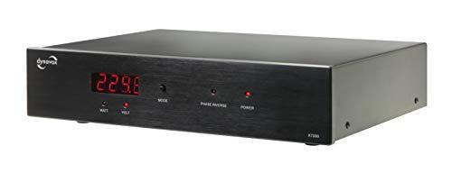 Dynavox HiFi-Netzfilter X7000B, Mehrfach-Steckdose mit 6 Steckplätzen, mit LED-Kontrollleuchte für korrekte Phasenlage und Display, schwarz