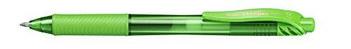 Pentel EnerGelX - Bolígrafo Energel retráctil con punta de bola, Escritura en color verde claro