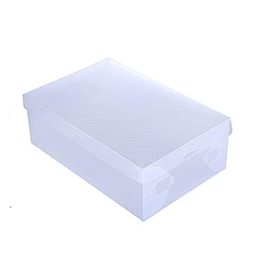 Caja de zapatos apilable, 10 piezas Caja de zapatos de plástico transparente Cajas de zapatos de almacenamiento Zapatos plegables Holder Caja Shoebox Zapatos transparentes Cajas Organizador Para guard