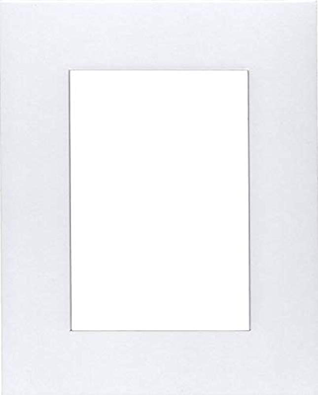 Pack Of 2 20x24 Acid Free White Core Picture Mats Cut For 16x20 Pictures In White