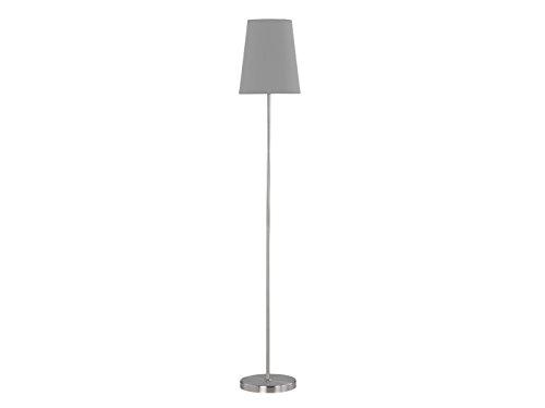 ACTION by WOFI 332901506000, Standleuchte, Serie: Fynn, Farbe: Nickel matt, Farbe (Schirm): grau, 1