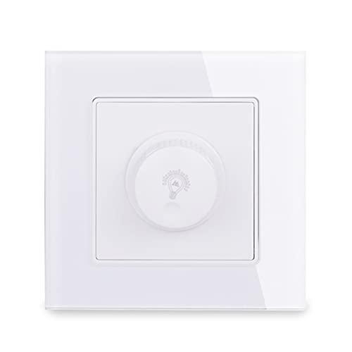 Regulador de atenuación para la lámpara LED regulable / Interruptor de la luz de la pared del panel de la bombilla incandescente 3-200W Brillo ajustable Fácil instalación ( Color : White )