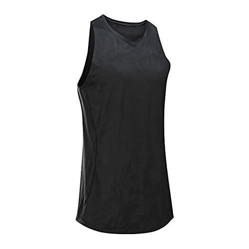 Mikelabo Camiseta de compresión para hombre, de algodón, para baloncesto Negro L