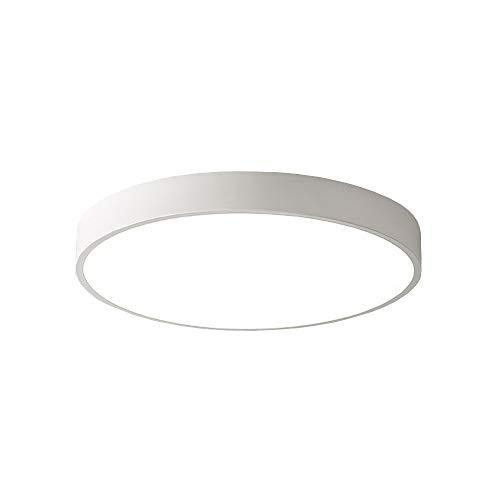 PUCHIKA LED Deckenleuchte 24W Ultra Dünn Deckenlampe Bürolampe Rund Wohnzimmer Kinderzimmer Deckenlampen,Weiß,30cm