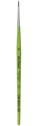 DA VINCI 373 Series Round Brush, Synthetic Fiber, Green, 18 x 0.16 x 30