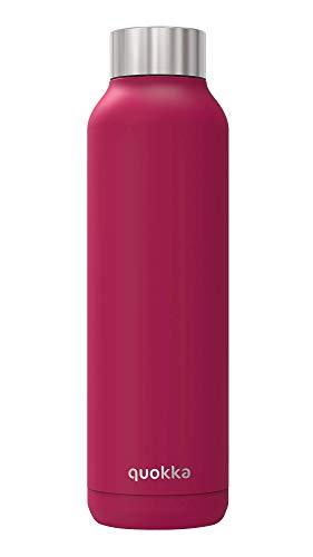 Quokka Solid - Rosewood 630 ML | Botellas De Agua Acero Inoxidable Sin BPA |Botella Térmica De Doble Pared - Mantiene el frío y el Calor para Niños y Adultos