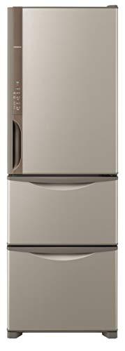日立 冷蔵庫 375L 3ドア 右開き R-K38JV T 幅60.0cm 奥行66.5cm まんなか野菜タイプ うるおいチルド うるおい野菜室 ライトブラウン