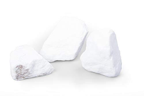 GABIONA Schneeweiß Natursteine Bruch I Gabionen Steine zum Befüllen für Gabionenkörbe für die individuelle Gartengestaltung I Sichtschutz aus Stein Zaunelemente Säulen Ø 50-150 mm (750 KG)
