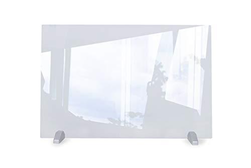 Trennwand in edlem Design (Spuckschutz/Niesschutz) / 750 x 500 mm / 30071701