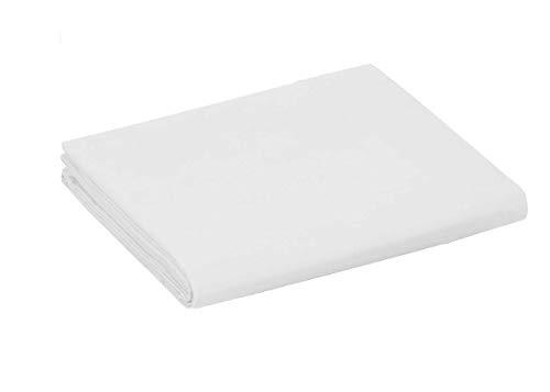 UNIVERS-DECOR Drap Plat 57 Fils/cm² 240 x 300 cm Blanc