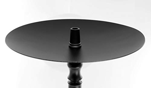 Shisha King® Kohleteller 25 cm groß schwarz | Teller für Kohle | für Aluminium Edelstahl Glas Shisha (schwarz)