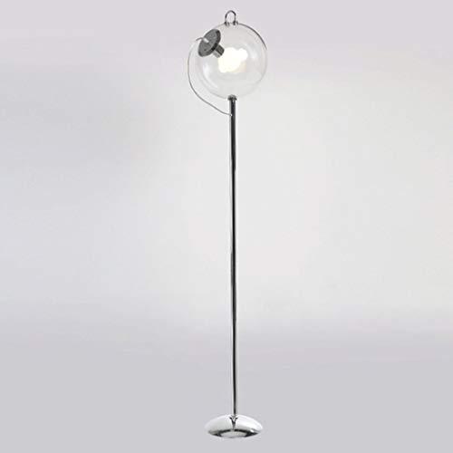miwaimao Nórdico simple moderna bola de cristal lámpara de pie hierro arte personalidad creativa sala dormitorio lámpara de pie