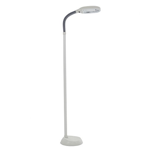 Lavish Home (72-0890) 5 Feet Sunlight Floor Lamp With Adjustable Gooseneck – Black