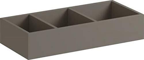 Keramag Geberit Xeno2 Schubladeneinsatz H-Teilung 37,3x6,2x20,8cm, sculturagrau, 500527001