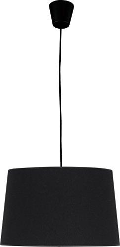 Hängeleuchte Schwarz Stoff Schirm E27 Bauhaus Design Schlicht Küchenlampe Pendelleuchte Esstisch Hängelampe