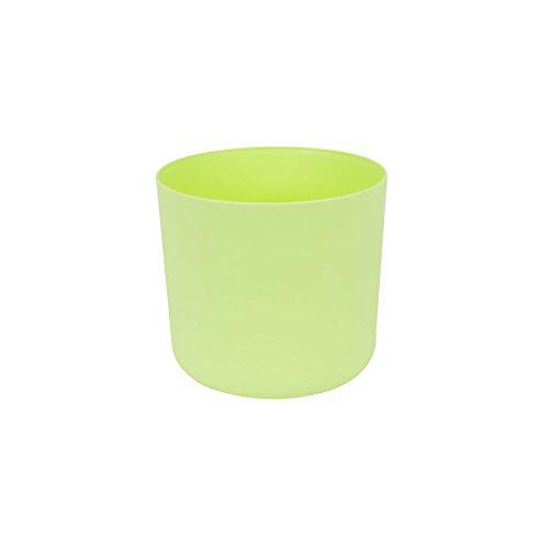 Classique cache-pot en plastique Aruba 13 cm en lime pastel couleur