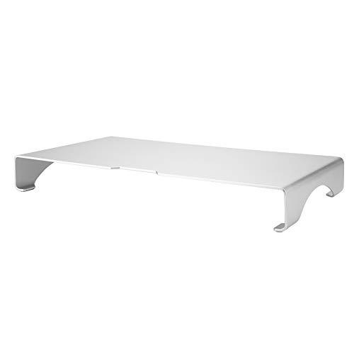 Aufee Soporte para Monitor de aleación de Aluminio con Ranura para Estante de Impresora para Ordenador, portátil, Impresora, iMac, Organizador de Escritorio