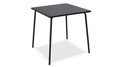 Wohaga ® Table de bistrot 60x60cm plaque de verre cannelées Table En Verre Table d/'appoint Noir