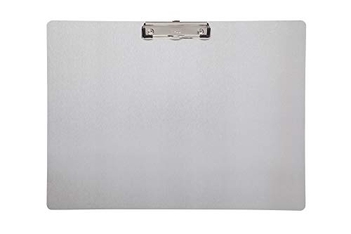 Maul Schreibplatte, Klemmbrett, DIN A3 quer, Eloxiertes Aluminium, 8 mm Klemmweite, 1 mm Plattenstärke