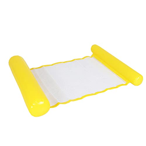 Fila Flotante Inflable para Piscina, Hamaca de Agua Flotante de PVC Grueso con Bomba de Aire Manual, para Hombres Mujeres Deportes AcuáTicos Juego
