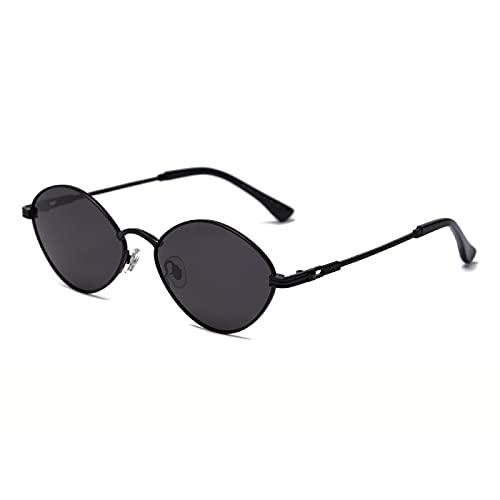 ShZyywrl Gafas De Sol De Moda Unisex Gafas De Sol Pequeñas Vintage para Mujer Y Hombre, Gafas De Sol Ovaladas De Aleación para Hombre, Sombras Irregulares, Gaf