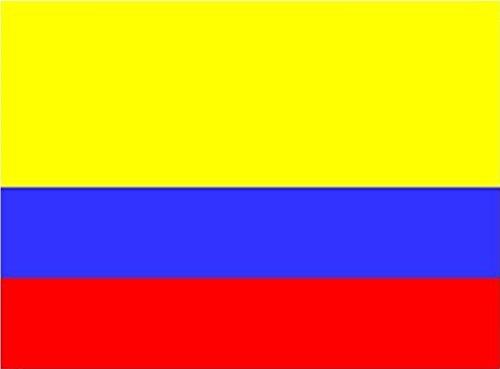 Ndier Drapeau Colombie en polyester - Idéal pour l'extérieur et l'intérieur - 150 x 90 cm