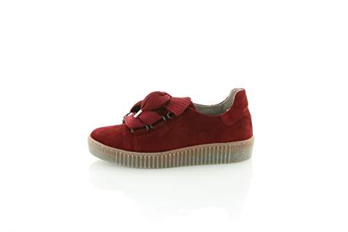 Gabor Damen Low-Top Sneaker 33.330, Frauen Sneaker,Halbschuh,Schnürschuh,Strassenschuh,Business,Freizeit,Dark-Opera (fumo),40 EU / 6.5 UK